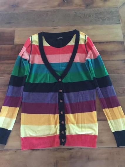 Saco Cardigan Multicolor Importado