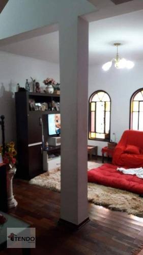 Imagem 1 de 15 de Imob01 - Sobrado 250 M² - Venda - 4 Dormitórios - 1 Suíte - Santa Teresinha - Santo André/sp - So0485