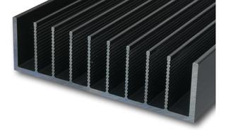 7.6cm Ancho, 30cm Largo Disipador De Calor Aluminio Anodizado Negro. Perfecto Para Leds, Transistores, Acuarios.
