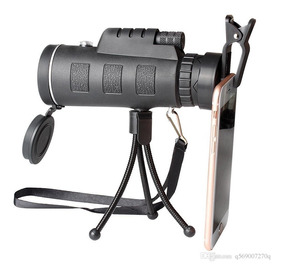 Luneta Telescópio Monóculo Tático 40x60 9500m Tripe Back4
