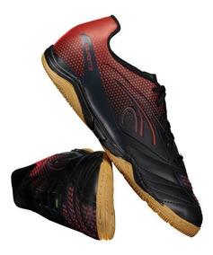 Chuteira Dalponte Twister Futsal Preta E Vermelha