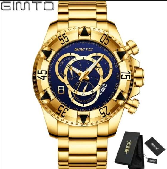 Relógio Gimto Original Big Dial Com Box