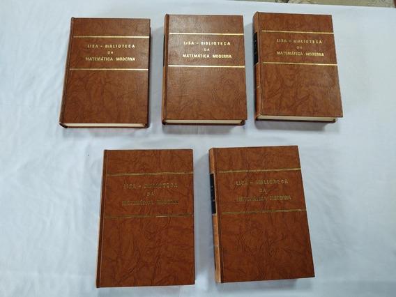 Coleção 5 Livros Lisa Biblioteca Matemática Moderna Capa Dur