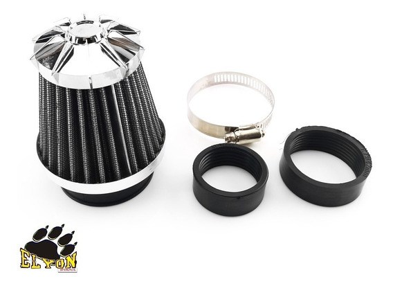 Filtro Ar Esportivo Carburador Moto Com Adaptador 35 Á 50mm