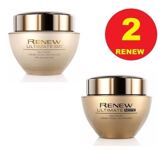Kit 2 Renew Ultimate Avon 45 A 60 Anos Dia E Noite Facial