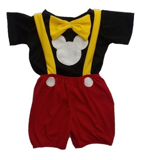 Fantasia Roupa Infantil Mickey Mouse - 2 Peças