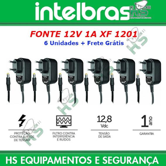 6 Fonte Alimentação Câmera Cftv Ef Xf1201 12v 1amp Intelbras