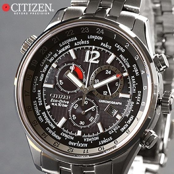 Relógio Citizen Drive Safira Chrono World Time Novo