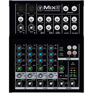 Mixer Mackie Mix8 8 Canales 2 Mono Xlr 2 Estereo