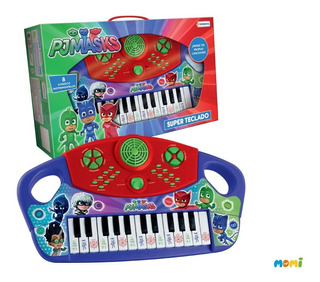 Piano Teclado Con Luz Y Sonido Pj Masks Heroes En Pijama