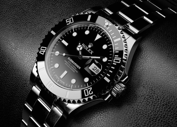Relógio Rlx De Aço Preto 40mm
