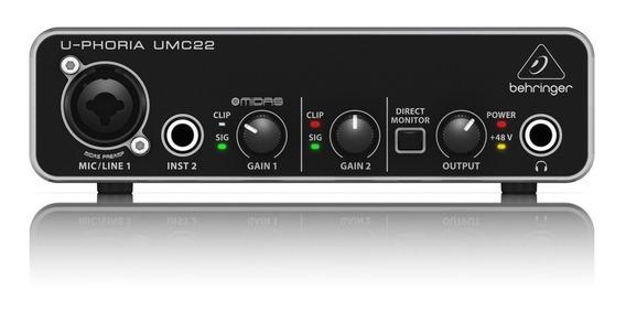 Behringer U-phoria Umc22 Interfaz De Audio Usb
