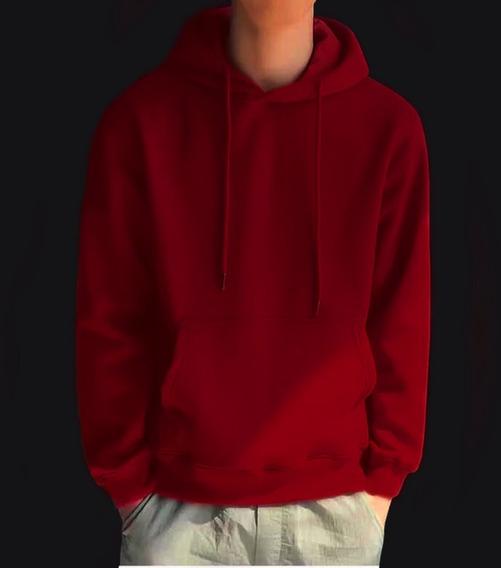 Sudadera/hoodie Liso Color Cereza