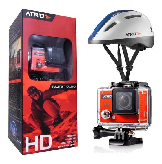 Camera Hd Dc186 Com Capacete Urban Branco G Bi060 Dc189