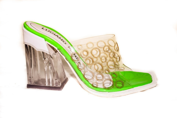 Zueco Brasilia Green Neon Crystal By Luciano Marra Ss20