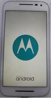 Motorola Moto G3 Xt1543 Branco/azul Com Defeito S/ Garantia