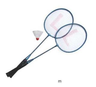 Kit Badminton Com 2 Raquetes E 1 Peteca