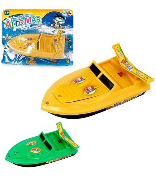 Barquinho Barco Lancha A Pilha Criança Brinquedo Aguá Mar