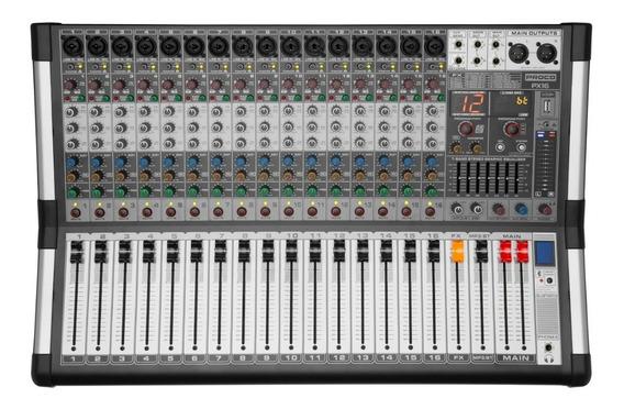 Proco Px-16 Consola Audio Mixer Potenciada 16 Canales Usb Bt