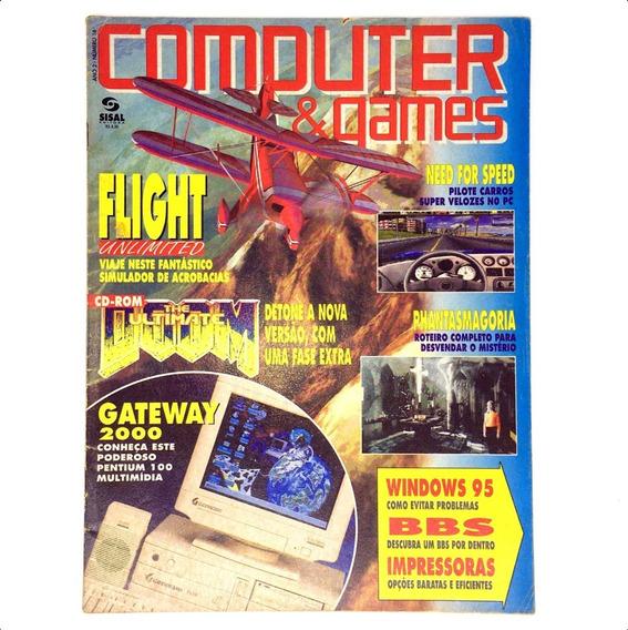 Computer E Games Edição Nº 16 Revista Rara Outubro De 1995