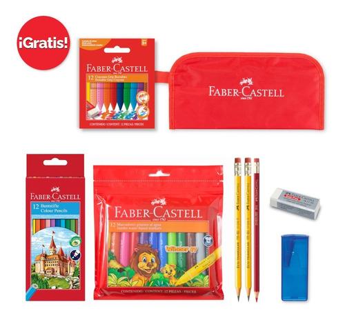 Imagen 1 de 6 de Faber-castell Set Prescolar Con Estuche Y Crayones De Regalo