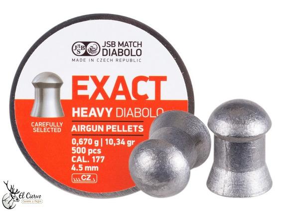 Diabolos Jsb Exact Heavy Cal .177, 10.34 Granos, Con 500