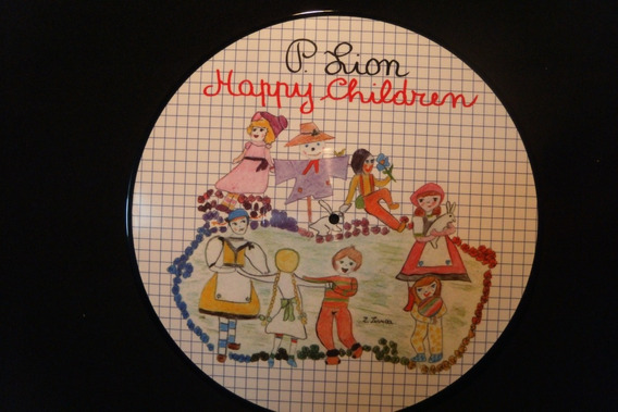 P Lion Happy Children Vinilo Italo Maxi Picture Disc Nuevo