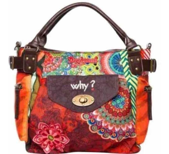 Cartera Bolso Morral Desigual Why? Original Super Oferta