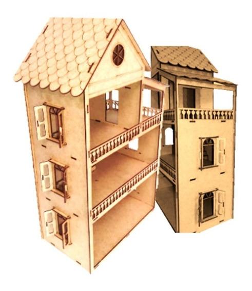 Casa Casinha Boneca+35 Mini Móveis 53cm Abre E Fecha