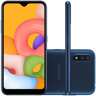 Smartphone Samsung Galaxy A01 10 16gb Câmera 13mp Azul