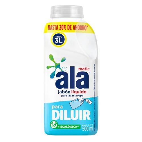 Jabón líquido Ala Matic Para Diluir botella 500ml