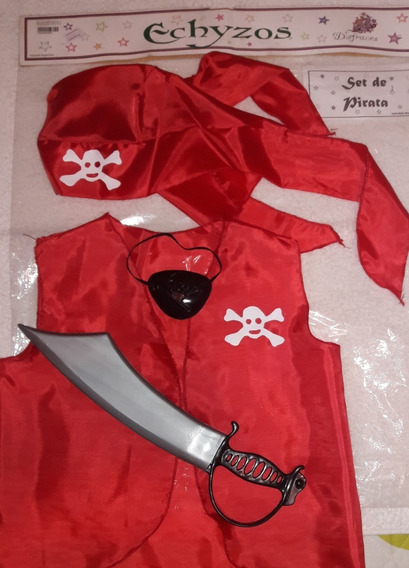 Disfraz De Pirata Echyzos Set Completo Impecable