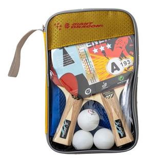 Set Ping Pong 2 Paletas 3* + Red Soportes 3 Pelotas Y Funda