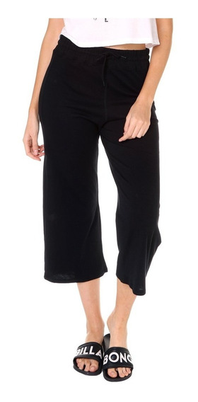 Pantalon Billabong Black Moon Pant Mujer Crop Jogging Jersey