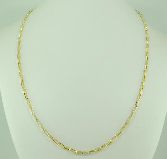 Corrente Cordão Cadeado 70 Cm Ouro 18k 750