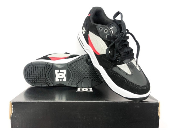 Tênis Dc Maswell Grey/black/red Imp Original