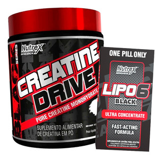 Lipo 6 Black 60 Cápsulas + Creatine Drive 300g - Nutrex