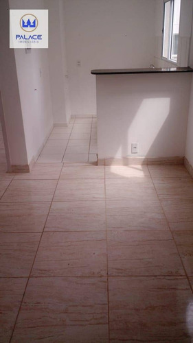 Apartamento Com 2 Dormitórios, 45 M² - Venda Por R$ 132.000,00 Ou Aluguel Por R$ 550,00/mês - Novo Horizonte - Piracicaba/sp - Ap0683
