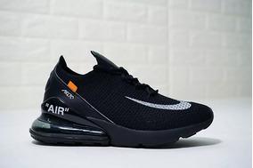 Off White X Nike Air 270 Flyknit Black