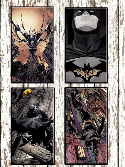 Combo 4 Cuadros Modernos Batman Superman Comic C/u 40x30 Cm