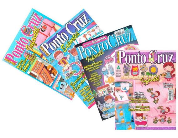 Revistas Ponto Cruz Infantil Esporte Bordados Yaranas