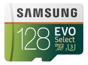 Cartão Micro Sd Samsung 128gb 100mb/s U3 4k Original Lacrado