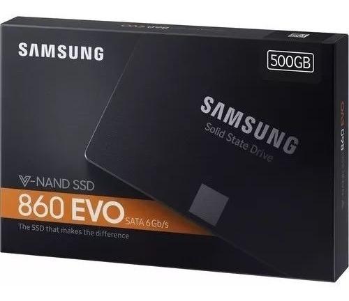 Hd Ssd 500gb Samsung 860 Evo Sata3 6gb/s 2.5 550mb/s - Novo