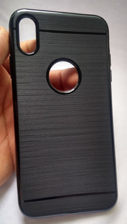 Capa Emborrachada Zenfone Max Pro Zb602kl +pelicula Vidro 3d