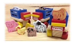 Mini Caminhão Fazendinha - Wood Toys