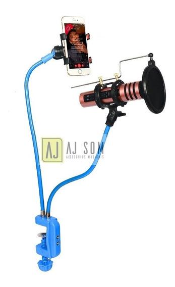 Pedestal Articulado,haste Flexível P/microfone E Cel,rádio
