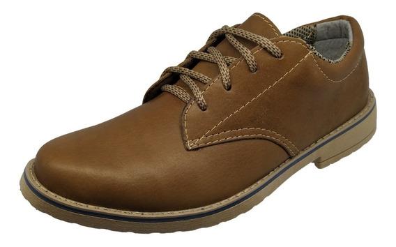 Sapato Sapatenis Masculino Cano Médio Couro Cadarço Amarrar