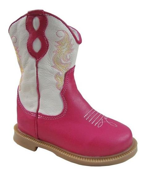 Bota Texana Infantil Ki Fofo Pink