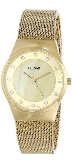 Pulsar Ph8056 Reloj De Acero Inoxidable Dorado Para Mujer