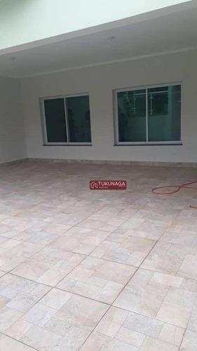 Sobrado Com 5 Dormitórios, 350 M² - Venda Por R$ 1.050.000,00 Ou Aluguel Por R$ 5.300,00/mês - Vila Galvão - Guarulhos/sp - So0849